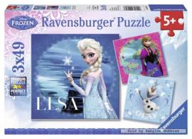 Ravensburger Disney Frozen - Elsa,Anna & Olaf  3x49 stukjes
