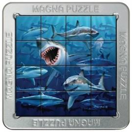 TFF 3D Magna Puzzle Small - Sharks - 16 stukjes