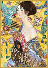 Piatnik Gustav Klimt - Lady with Fan - 1000 stukjes