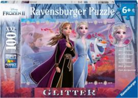 Ravensburger - Disney Frozen 2 Sterke Zussen - 100XXL stukjes  mrt glitter