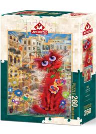 Art Puzzle - Red Cat - 260XL stukjes