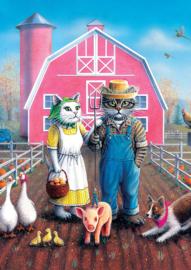 Art Puzzle 5028 - Cat Farm - 260XL stukjes