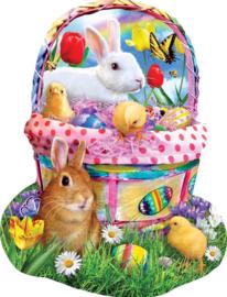 SunsOut 97124 - Bunny's Easter Basket - 1000 stukjes  Vormpuzzel