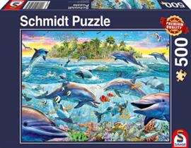 Schmidt - Dolfijnen Rif - 500 stukjes