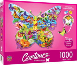Master Pieces - Butterfly Suprise - 1000 stukjes  Vormpuzzel