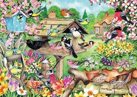 Falcon de Luxe 11280 - Spring Garden Birds - 500 stukjes