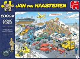 Jan van Haasteren - Formule 1, De Start - 2000 stukjes  Binnenkort Leverbaar