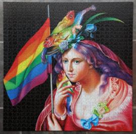 eeBoo - Liberty Rainbow - 1000 stukjes