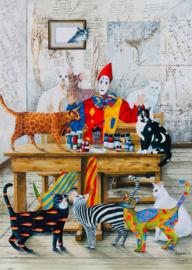 Art Puzzle 4271 - The Colored Cats - 260XL stukjes