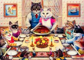 Art Puzzle 5025 -  Cat Family - 260XL stukjes