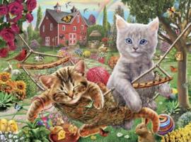 SunsOut 51820 -  Cats on the Farm - 300XL stukjes