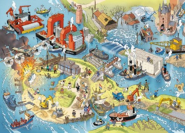 Puzzelman Jan Danker - Waterwerken - 1000 stukjes