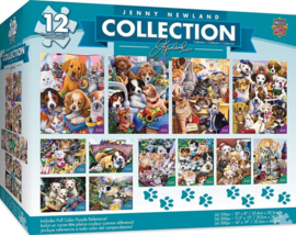 Master Pieces - Honden - 500 + 300 + 100 stukjes  (12 Puzzels)