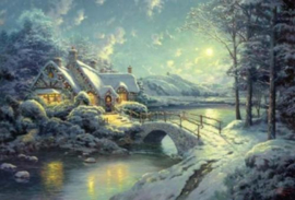 Thomas Kinkade - Christmas Moonlight -500 stukjes