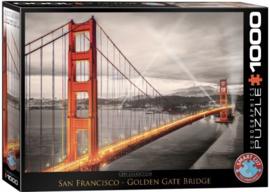 Eurographics 0663 - San Francisco, Golden Gate Bridge - 1000 stukjes