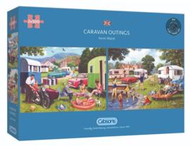 Gibsons 5057 - Caravan Outings - 2x500 stukjes
