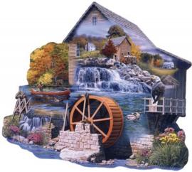 SunsOut 95065 - The Old Mill Stream - 1000 stukjes  Vormpuzzel