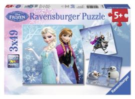 Ravensburger Disney Frozen -Avontuur in Winterland 3x49 stukjes