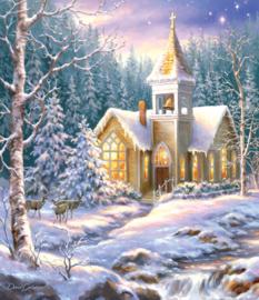 SunsOut 57222 - Winter Chapel - 550 stukjes