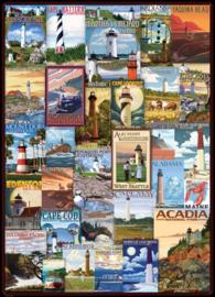 Eurographics 0779 - Lighthouses Vintage Posters - 1000 stukjes
