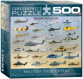 Eurographics 0088 - Military Helicopters - 500XL stukjes