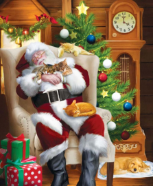 SunsOut 28698 - Santa and his Cats - 1000 stukjes