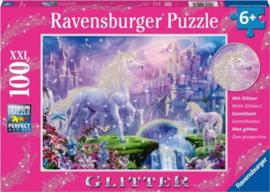 Ravensburger - Koninkrijk van de Eenhoorns - 100XXL stukjes  (Glitter)
