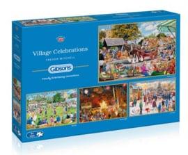 Gibsons 5051- Village Celebrations - 4x500 stukjes