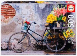 Educa - Bicycle With Flowers - 500 stukjes