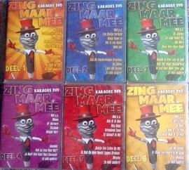 Karaoke Pakket - Zing Maar Mee - 6 dvd's