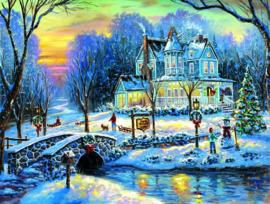 SunsOut 60760 - A White Christmas - 1000 stukjes