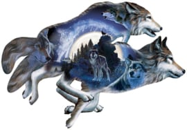 SunsOut 95497 Moonlight Warrior - 1000 stukjes  Vormpuzzel