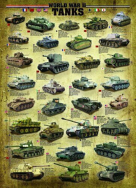 Eurographics 0388 - World War II Tanks - 1000 stukjes