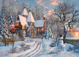 Eurographics 0790 - Christmas Cottage - 1000 stukjes