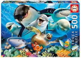 Educa - Onderwater Selfie - 500 stukjes