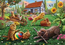 KS - Dogs and Cats at Play - 500 stukjes