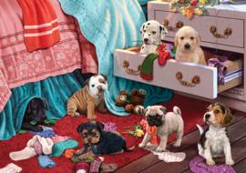 KS - Puppies in the Bedroom - 500 stukjes