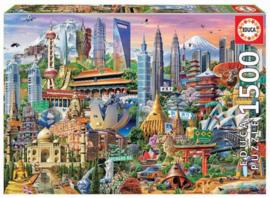 Educa - Bekende Plekken in Azie - 1500 stukjes
