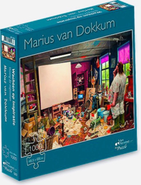 Art Revisited Marius van Dokkum - Wachten op Inspiratie - 1000 stukjes