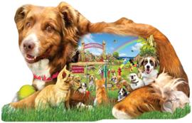 SunsOut 96074 - Dog Park - 1000XL stukjes. Vormpuzzel
