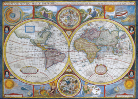 Eurographics - Antieke Wereldkaart - 1000 stukjes