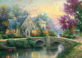 Thomas Kinkade - Lamplight Manor - 3000 stukjes