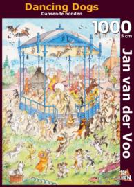 Puzzelman Jan van der Voo - Dansende Honden - 1000 stukjes