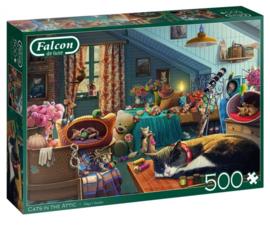 Falcon de Luxe 11300 - Cats in the Attic - 500 stukjes