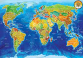 KS - World Political Map - 1500 stukjes