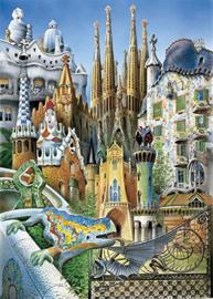 Educa - Collage Miniatuur Gaudi Puzzel - 1000 stukjes