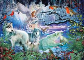 Art Puzzle - Glacier Forest - 500 stukjes