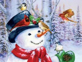 SunsOut 16087 - Sweet Snowman - 500 stukjes