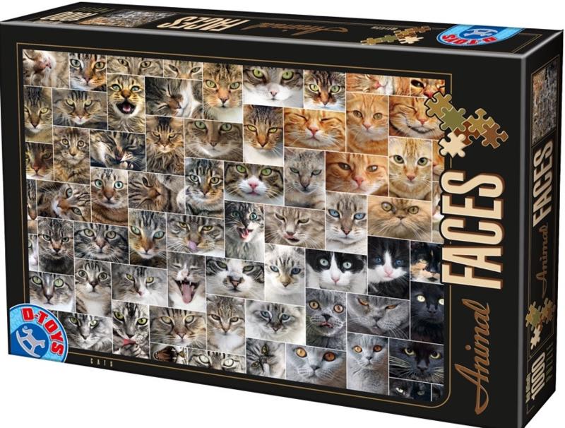 D-Toys - Collage Kattengezichten - 1000 stukjes