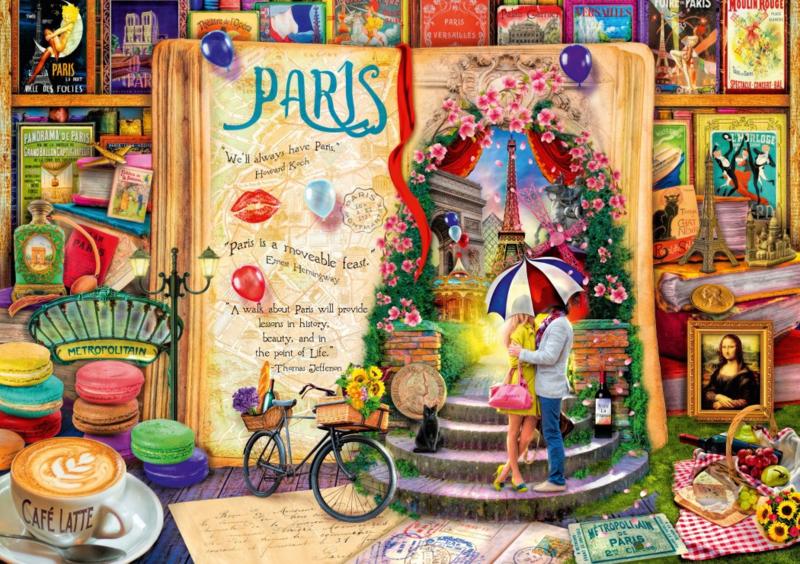 Bluebird - Life is an Open Book, Paris - 1000 stukjes